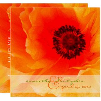 Orange Poppy/wedding Invitations