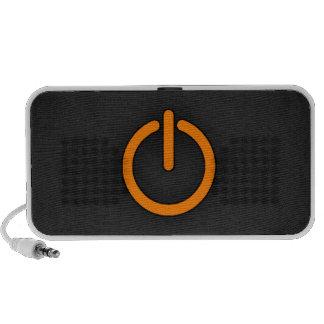 Orange Power Button Laptop Speakers