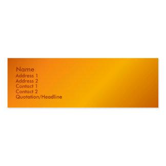 Orange Profile Card Business Card Templates