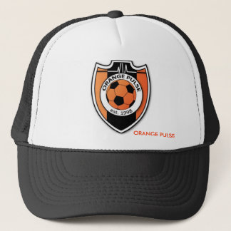 ORANGE PULSE TRUCKER HAT