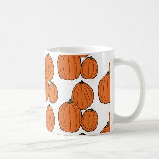Orange Pumpkin Pattern Mug
