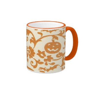 Orange Pumpkin Vines Mug