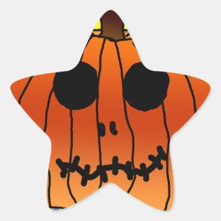 Orange Pumpkin Yellow Polka Dots Cyan Halloween Stickers