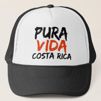 Orange Pura Vida Costa Rica Trucker Hat