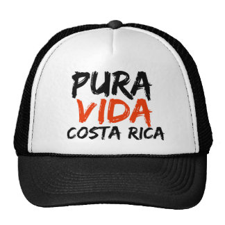 Orange Pura Vida Costa Rica Trucker Hat