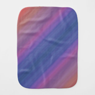 Orange Purple and Blue Stripes Abstract Art Design Burp Cloth