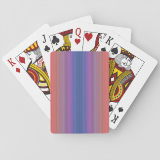 Orange Purple and Blue Vertical Stripes Playing Cards