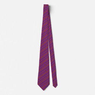 Orange Purple Bold Designer Fashion Chic Stripes Tie