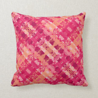 orange purple cushion
