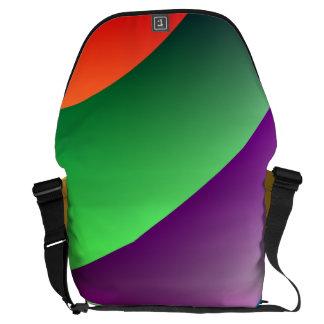 Orange Purple Green Abstract Messenger Bags