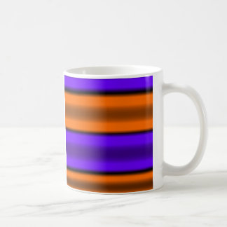 Orange & Purple Horizontal Stripes Coffee Mug