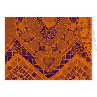 orange purple mosaic card