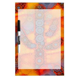 Orange Purple Southwestern Saguaro Cactus Mosaic Dry Erase Board