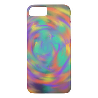 Orange Purple Spiral Abstract Art Painting Design iPhone 8/7 Case