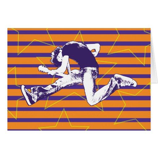 Orange Purple Superstar Card
