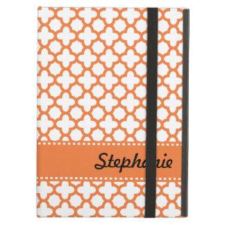 Orange Quatrefoil Pattern Case For iPad Air