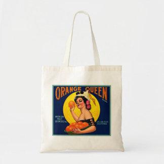 Orange Queen Orange Crate Label Tote Bags