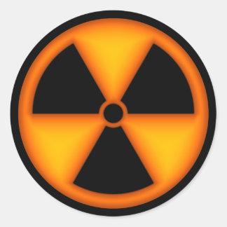 Orange Radiation Symbol Sticker
