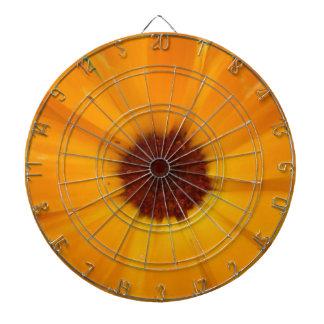 Orange Rain Daisy Dart Board