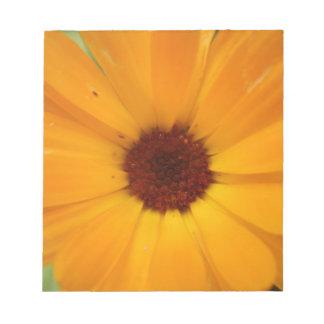 Orange Rain Daisy Notepad