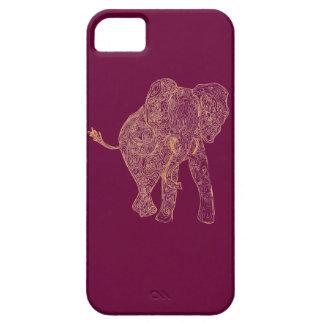 Orange/Raspberry Elephant iPhone 5 Case