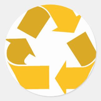 orange recycle stickers