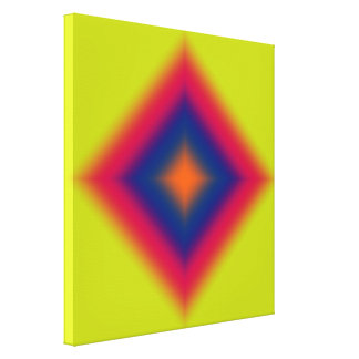 Orange Red and Blue Glowing Diamond Canvas Print