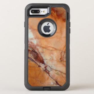Orange Red and White Marble OtterBox Defender iPhone 8 Plus/7 Plus Case