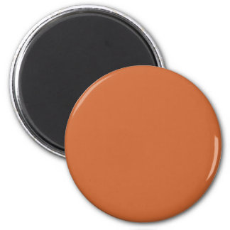 Orange-Red #CC6633 Solid Color 6 Cm Round Magnet