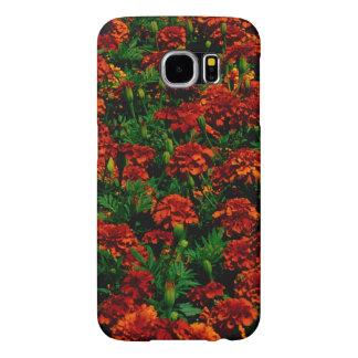 Orange Red Flower Landscape Samsung Galaxy S6 Cases