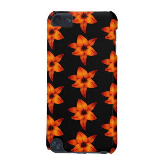 Orange - Red Lily Flowers on Black. iPod Touch 5G Cover