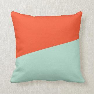 Orange Red + Magic Mint Cushion