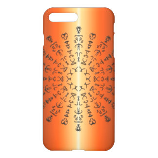 Orange/red Pattern with strange sign iPhone 8 Plus/7 Plus Case