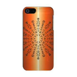 Orange/red Pattern with strange sign Incipio Feather® Shine iPhone 5 Case