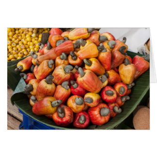Orange Red Peppers at Farmers Vegetable Market Card