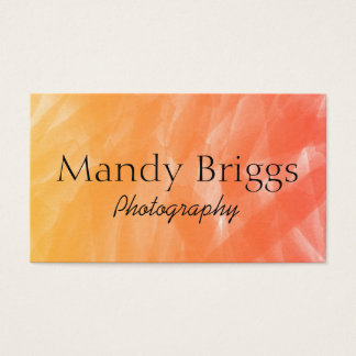 Orange Red WaterColor Painting Photography Business Card