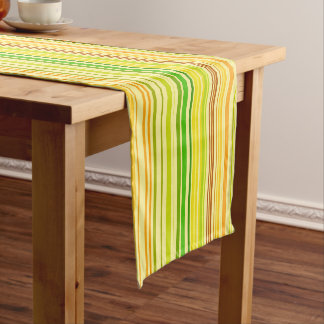 Orange Red Yellow Apple Green Brown Short Table Runner