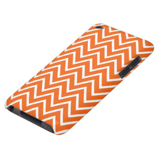 Orange-red zigzag chevron pattern iPod Touch case