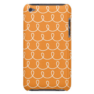 Orange Retro Colorful Modern Doodles Barely There iPod Covers