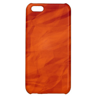 Orange Retro Crumpled Paper iPhone 5C Cover