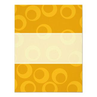 """Orange retro pattern. 4.25"""" x 5.5"""" invitation card"""