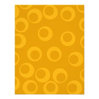 Orange retro pattern personalized invitations
