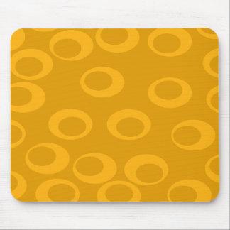 Orange retro pattern mousepads