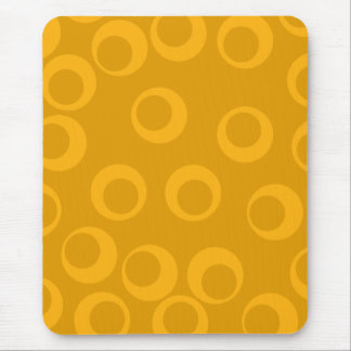 Orange retro pattern. mouse pad