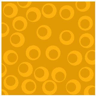 Orange retro pattern. photo sculpture badge