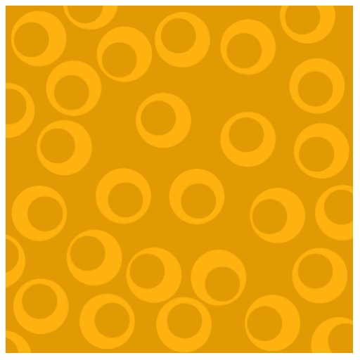 Orange retro pattern. acrylic cut outs