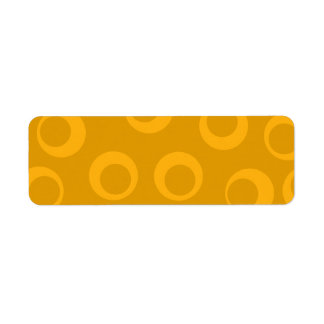 Orange retro pattern. return address label
