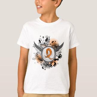 Orange Ribbon And Wings Leukemia T-Shirt
