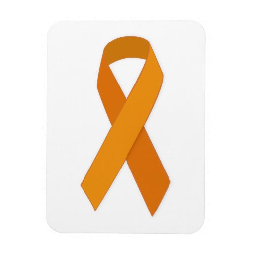 ORANGE RIBBON CAUSES ANIMALS MOTIVATIONAL SUPPORT FLEXIBLE MAGNETS