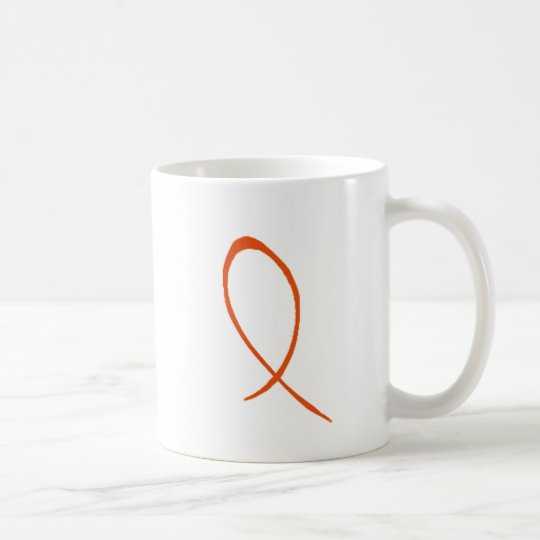 Orange Ribbon Customisable Mug
